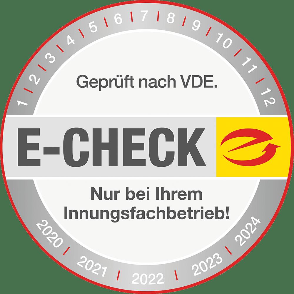 E-Check Plakette 2020